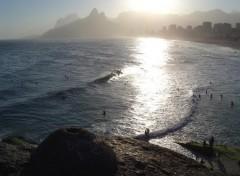 Fonds d'écran Voyages : Amérique du sud Ipanema Sunset, Rio de Janeiro