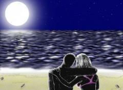 Wallpapers Art - Painting Pleine lune