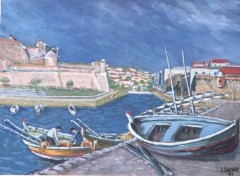 Wallpapers Art - Painting Collioure départ àa la pèche
