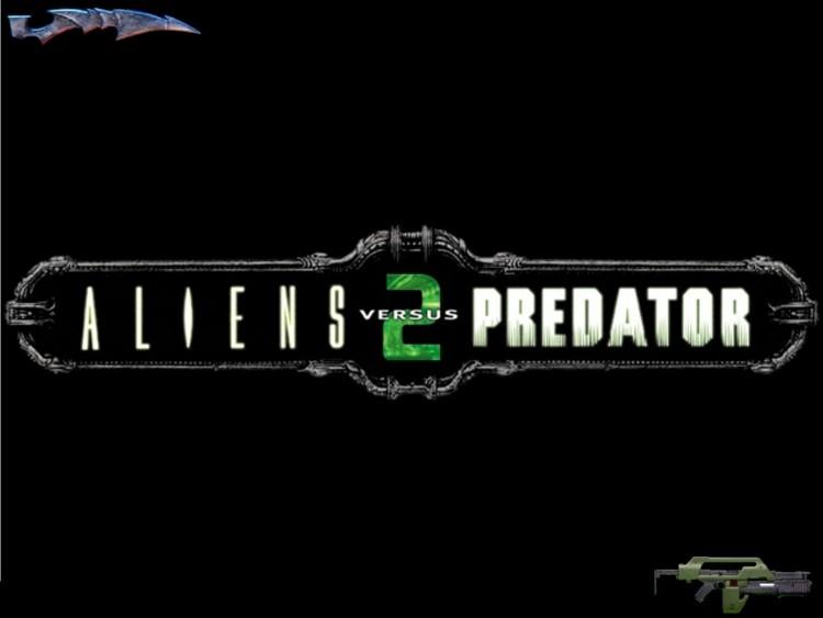 Fonds d'écran Jeux Vidéo Alien Vs Predator 2 Logo AVP2