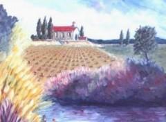 Fonds d'écran Art - Peinture coin de Provence