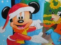Fonds d'écran Art - Crayon Mickey