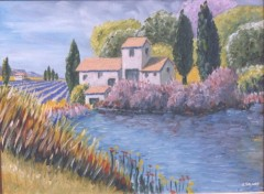 Wallpapers Art - Painting un Mas  en Provence