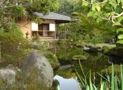 Fonds d'écran Voyages : Asie Le jardin d'un resto à Fukuoka