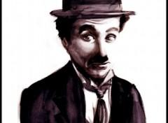 Wallpapers Art - Painting Charlie Chaplin