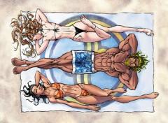 Fonds d'écran Comics et BDs Moi à la plage