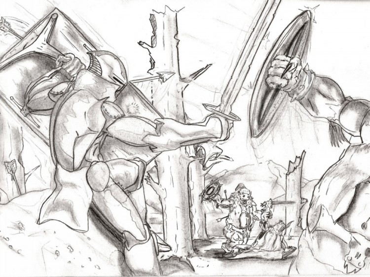 Fonds d'écran Art - Crayon Fantasy - Illustrations Epic war