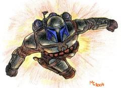 Fonds d'écran Art - Crayon Jango Fett -- Star Wars