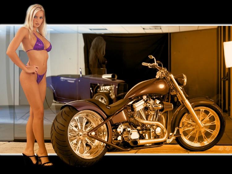 Wallpapers Motorbikes Girls and motorbikes 10