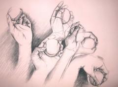 Fonds d'écran Art - Crayon Etude de main