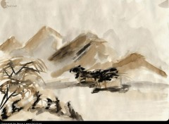 Wallpapers Art - Pencil Paysage chinois