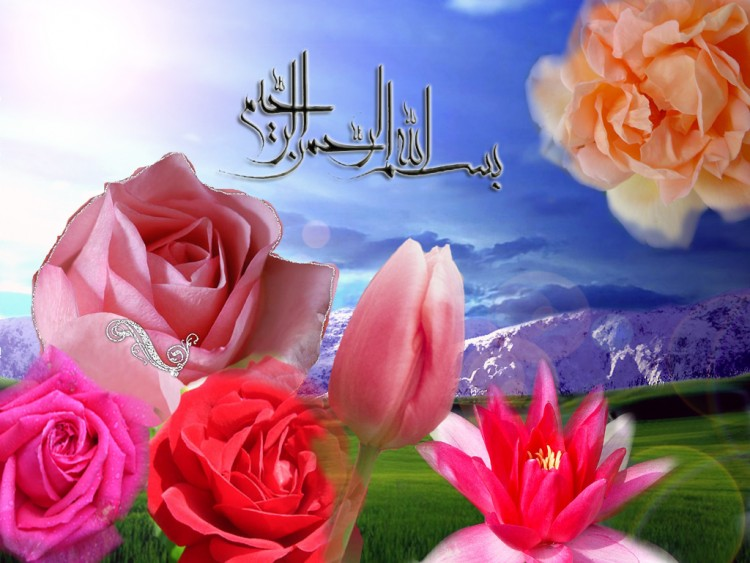 Wallpapers Digital Art Wallpapers Style Islamic Roses By