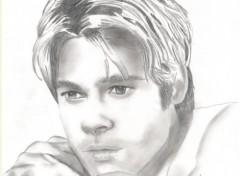 Fonds d'écran Art - Crayon Brad Pitt