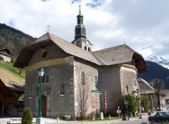 Wallpapers Constructions and architecture Eglise de Morzine