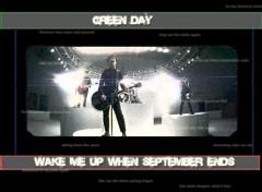 Fonds d'écran Musique green day Wake me up when september ends