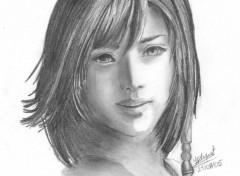 Fonds d'écran Art - Crayon Yuna de Final Fantasy