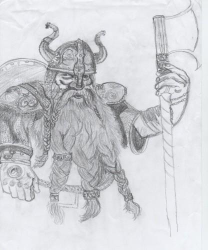 Fonds d'écran Art - Crayon Fantasy - Seigneur des anneaux Nain