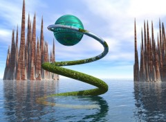 Wallpapers Digital Art futurist-land