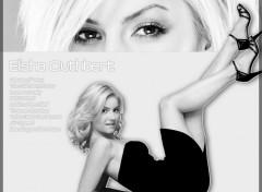 Fonds d'écran Célébrités Femme Elisha Black & White