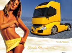 Wallpapers Cars Gisele Bundchen love Renault !