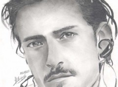 Fonds d'écran Art - Crayon Orlando Bloom