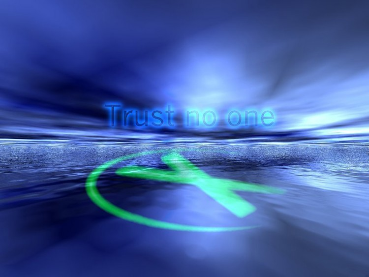 wallpapers tv soaps gt wallpapers xfiles trust no one by