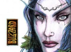 Fonds d'écran Art - Crayon Elfe de la nuit - World of Warcraft