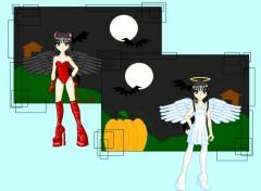 Fonds d'écran Manga Ange ou démon
