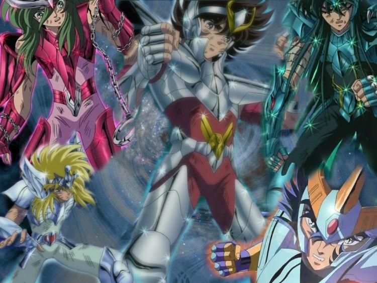 Fonds d'écran Manga Saint Seiya - Les Chevaliers du Zodiaque Saint Seya - Les chevaliers de Bronze