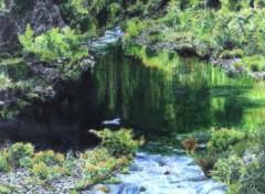 Fonds d'écran Art - Peinture lac