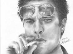 Fonds d'écran Art - Crayon David Hallyday 2