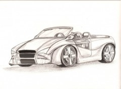 Wallpapers Art - Pencil Cabriolet maison.