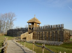 Fonds d'écran Voyages : Europe Cité préhistorique de Biskupin