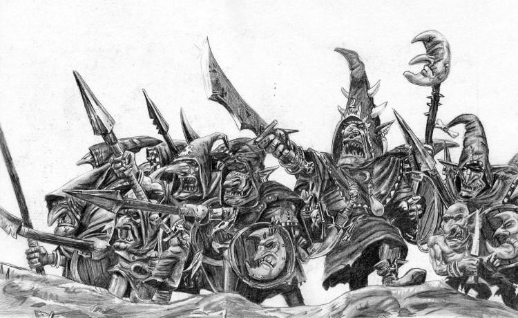 Fonds d'écran Art - Crayon Fantasy - Chevaliers à l'attaque