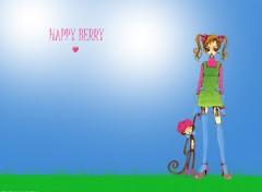 Fonds d'écran Manga Pink and green Happy Berry