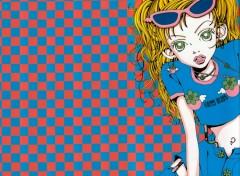 Fonds d'écran Manga Mikako grillage