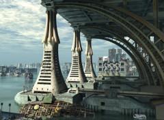 Fonds d'écran Art - Numérique City Of Tomorrow Docking Bay