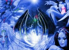 Wallpapers Fantasy and Science Fiction les anges de couleurs