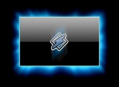 Fonds d'écran Informatique Blue Halo Winamp Logo Wallpaper