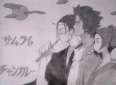 Fonds d'écran Art - Crayon Samurai Shamploo