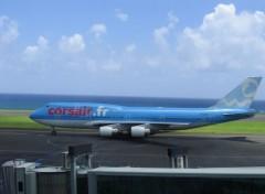 Fonds d'écran Avions CORSAIR - BOEING 747-400 immatriculation F-GTUI
