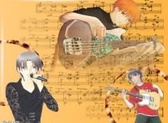 Fonds d'écran Manga Fruits Music