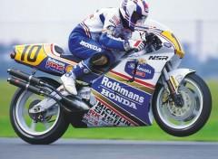 Fonds d'écran Motos Wayne Gardner - Honda NSR 500