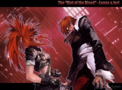 Wallpapers Video Games Leona & Iori - Riot of the blood