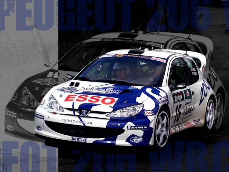 Wallpapers Cars Peugeot 206 wrc 2