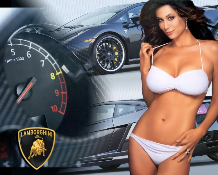 Wallpapers Cars Girls and cars lamborghini Gallardo
