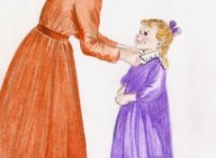 Wallpapers Art - Pencil mère et fille