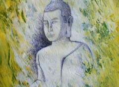 Fonds d'écran Art - Peinture white buddha