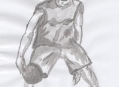 Fonds d'écran Art - Crayon basketteur