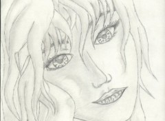 Fonds d'écran Art - Crayon Demoiselle
